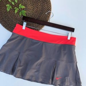 Nike Skirt Dri Fit Skort Tennis Gray Large